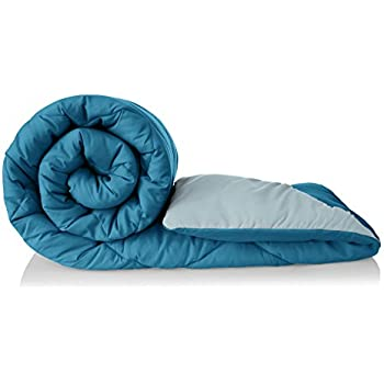 Amazon Brand - Solimo Microfibre Reversible Comforter, Single (Ocean Blue and Mild Blue, 200 GSM)