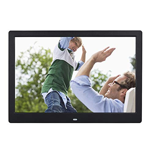 TONGTONG 13 Inch Touch Screen WiFi Cloud Digital Photo Frame Tempered Glass Network Cloud Album,Black (Digital Touch-screen Photo Frame)