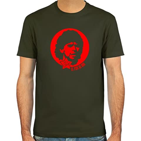 SpielRaum T-Shirt Diego Armando Maradona ::: Farbauswahl: schwarz, oliv oder navy ::: Größen: S-XXL :::