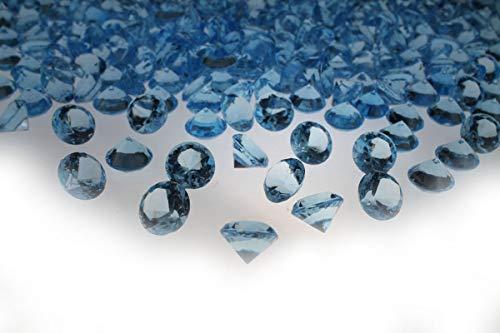 200 Stück 11mm glitzernde hellblau Deko Diamanten Brillianten Strasssteine Acrylsteine transparent klar kristall basteln Gltzersteine Schmucksteine Strass Steine zum Verzieren Dekorieren von CRYSTAL KING (Hellblau)