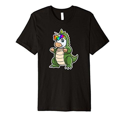 Funny T-Rex in Einhorn Kostüm T-Shirt Dino Einhorn Geschenk Tee