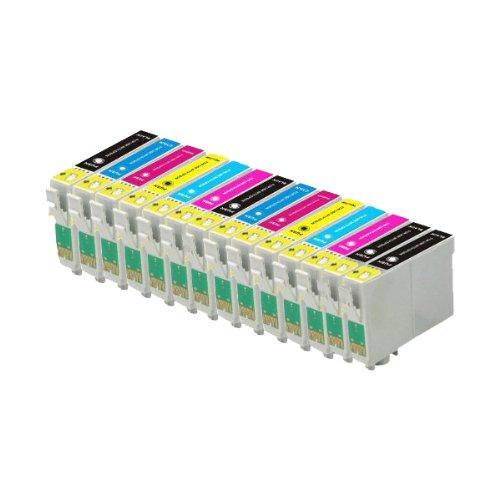 ECS - 14 cartuchos tinta 2 cada color 4 negros compatibles