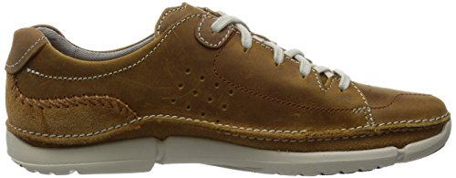 Clarks Trikeyon Mix Herren Derby Schnürhalbschuhe Braun (Tan Leather)