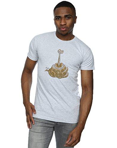 Disney Herren Classic Kaa T-Shirt Heather Grey
