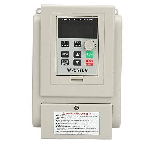 Bewinner 220 V AC Frequenzumrichter, Frequenzumrichter VFD Professioneller VFD-Drehzahlregler für einphasigen 0,75 kW-Wechselstrommotor -
