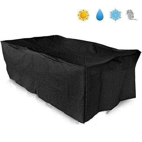 Foto de Basong Funda para Muebles de Jardín Exterior Impermeable Cubierta Protectora de Oxford 242*162*100cm Color Negro