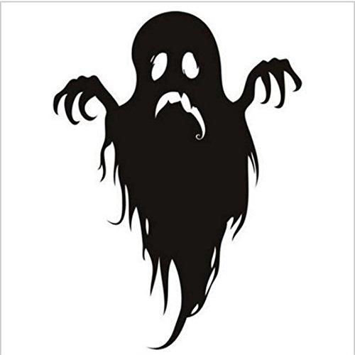 Xshuai Heißer Verkaufs-Halloween-Monster-Geist-schrecklicher Haushalt-Raum-Wand-Aufkleber-Wanddekor-Abziehbild Abnehmbare neue (A: 44cm * 33cm B: 60cm * 56.6cm X: 57cm * 35cm D: 57cm * 49cm) (Schwarz) (Geist Halloween Stadt)