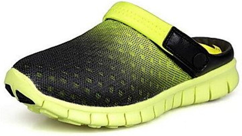 LMDSG zapatos de hombre casual zuecos de piel sintética y mulas azul / amarillo / verde / Rojo / Blanco / Naranja  -