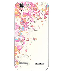 PrintDhaba FLOWER PATTERN D-6536 Back Case Cover for LENOVO A6020a46 (Multi-Coloured)