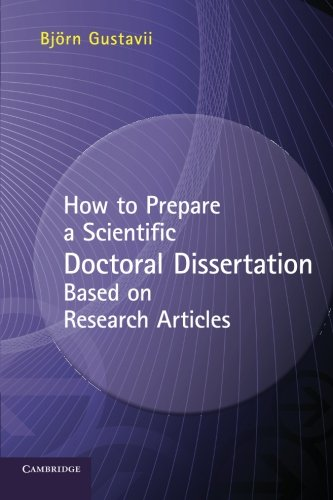 How to Prepare a Scientific Doctoral Dissertation Based on Research Articles Paperback