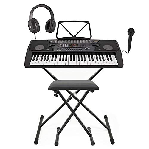 MK-2000 Tragbares Keyboard mit 54 Tasten von Gear4music – Komplettpaket