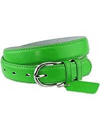 Simple et classique ceinture en cuir véritable et reconstitué avec boucle  ronde. Parfaite pour toutes 330241ce9fa