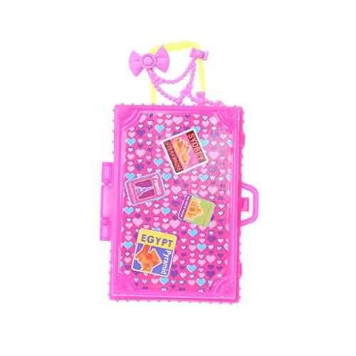 Kofun Koffer, Reise-Set Koffer Für 18-Zoll-American Girl Puppe Puppenzubehör Idealer Weihnachtsgeburtstag Koffer Spielzeug Geschenk Für Kinder B#