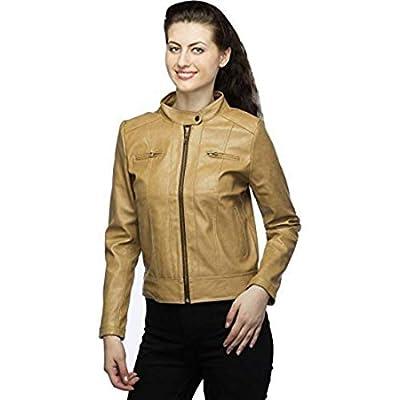 Mia fashion Full Sleeve Pu Leather Fashionable Jacket for Women/Girls