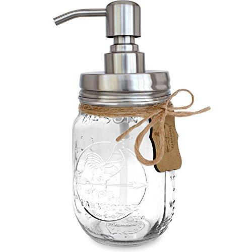 ZY Edelstahl/Seifenspender, Emulsion Glasflaschen/Seifenpumpe/Lotionspender/Edelstahl Flaschenverschluss