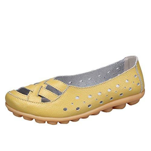 Vogstyle Mocassins Femmes Casuel Sandales Plat Chaussures Confort Style 2 Vert clair