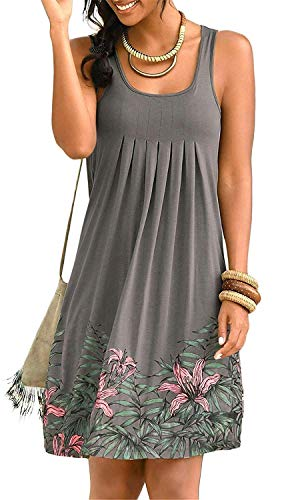 KISSMODA Damen Elegant Classy Kleidung Feminine Flair Weste Kleid Grau X-Large