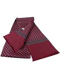 Avantgarde Sciarpa da giacca per uomo in seta tubolare bordeaux 160 sciarpe  made Italy 2b9ff6ca01c3