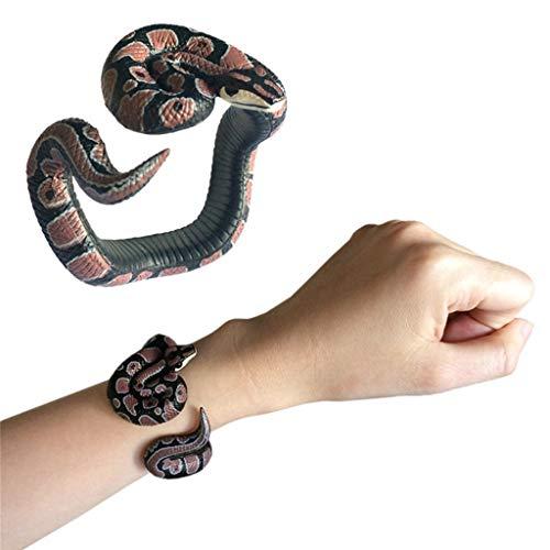 TianranRT★ Kinder Pädagogisches Spielzeug/Simulation Harz Python Tier Armband Handbemalt Pvc-Material Spielzeug, Interessante Neue Stil, Multi-Color