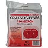100 Clear 120 Micron CD / DVD Sleeves