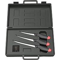 DAM filleting knifes - Filleting Set - 3 knifes and a knife sharpener in a suitcase