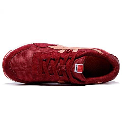 Onemix Air Mesh Herren Sneakers Training Turnschuhe Rotwein
