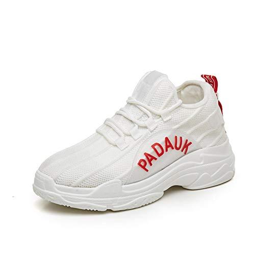 Mujeres Transpirable Lienzo Deportes al Aire Libre Zapatos de cuña Casual Zapatos sin Cordones de Encaje Ligero
