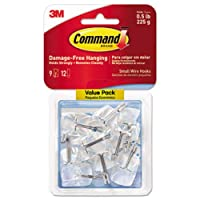 3M Command 17067CLR-VP Clear Wire Hook (Pack of 9)