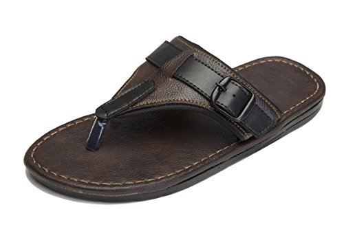 Butchi Men's and Boy's Brown Synthetic Slippers and flip Flops (FF201518-Brown_9)