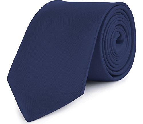 Ladeheid cravatta classica uomo kp-8 (150cm x 8cm, blu scuro)