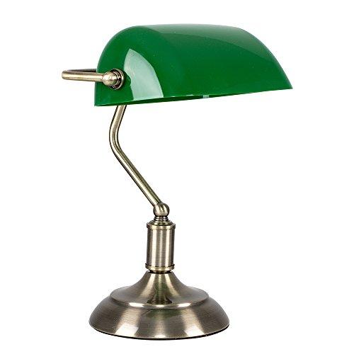 MiniSun – Lampada da tavolo tradizionale con una finitura d'ottone antico e...