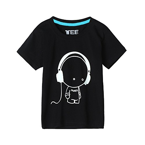 PLOT❤Clearance Family Matching Clothes Headset Short Sleeve Fluorescence T Shirt Summer Outfits