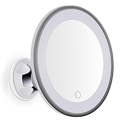 Bornku Bathroom Mirror B60 7X Magnifying Makeup Mirror with Lights Dimmable Illuminated LED Lighted for Wall with Suctioon Base and 360° Rotating produced by Bornku - quick delivery from UK.
