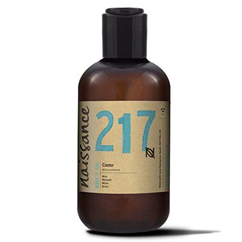 Naissance kaltgepresstes Rizinusöl 250ml - vegan, hexanfrei, gentechnikfrei