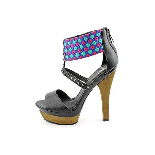 Pelle Moda Gali Femmes Synthétique Sandales Compensés Black