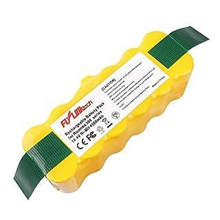 Flylinktech Batterie de rechange Ni-MH 4500mAh pour Aspirateur iRobot Roomba 500 600 700 800 900 Series 530 531 532 535 536 540 550 552 560 570 580 595 620 650 660 760 770 780 790 870 980
