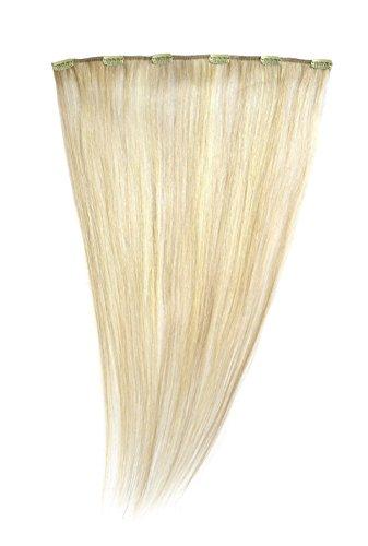 American Dream - A1/QFC12/18/24/25 - 100 % Cheveux Naturels - Barrette Unique Extensions à Clipper - Couleur 24/25 - Blond Soleil / Blond Léger - 46 cm