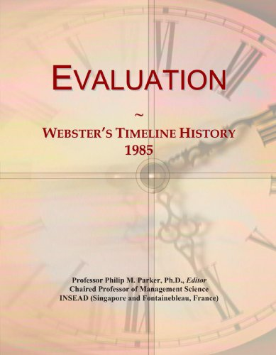 Evaluation: Webster's Timeline History, 1985