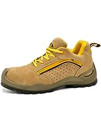 Safetoe Zapatos de Seguridad con Punta de ACERO Resistentes Al Agua. Botas de Trabajo de Piel de Grano con Goma de Construcción Unico Hombre/Mujer 7296