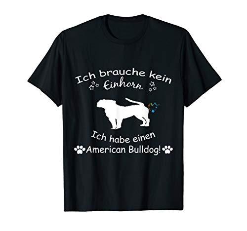 American Bulldog Tshirt - American Bulldog Hund Shirt -