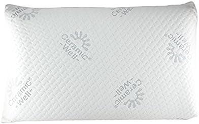 Confort du Sommeil - Oreiller cervicale DE VOYAGE Céramique à Mémoire de forme pour la nuque 24x36x9 cm
