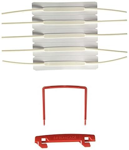 U-Clip Bonded File Fasteners, Two Inch Capacity, Orange and White, 100/Box