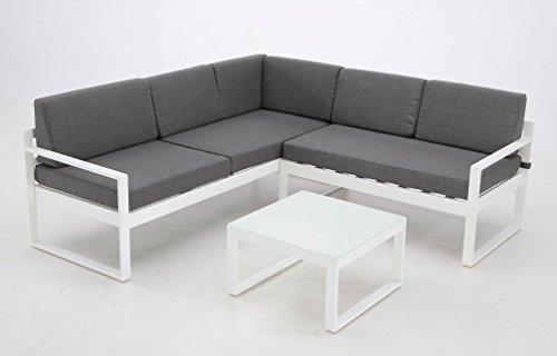Set Zurich sofa rinconera aluminio blanco