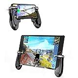Mamun Nueva Controlador de Juegos móvil Tableta Gamepad Disparo Sensible Objetivo Tirar botón Manija (Negro)