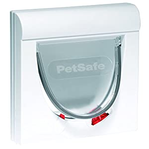 PetSafe Staywell, Magnetic Classic Cat Flap, Exclusive Entry, 4 Way Locking - White