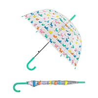 Multicoloured Scotty Dog Design Clear Dome Umbrella