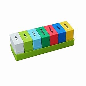 OFKPO 7 Tage Pillendose Organizer mit AM/PM Pillenbox,Tablettendose Tablettenbox Medi Planner