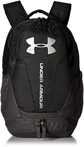 Under Armour UA Hustle 3.0 Mochila, Unisex Adulto, Negro Black/Silver 001, Talla única