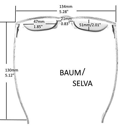 e93a8ef8de7fde WOLA lunette de soleil en bois SELVA lunettes style rondes femmes UV ...