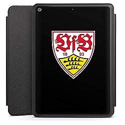 DeinDesign Smart Case schwarz kompatibel mit Apple iPad 6 Hülle mit Ständer Schutzhülle VfB Stuttgart Logo Fanartikel